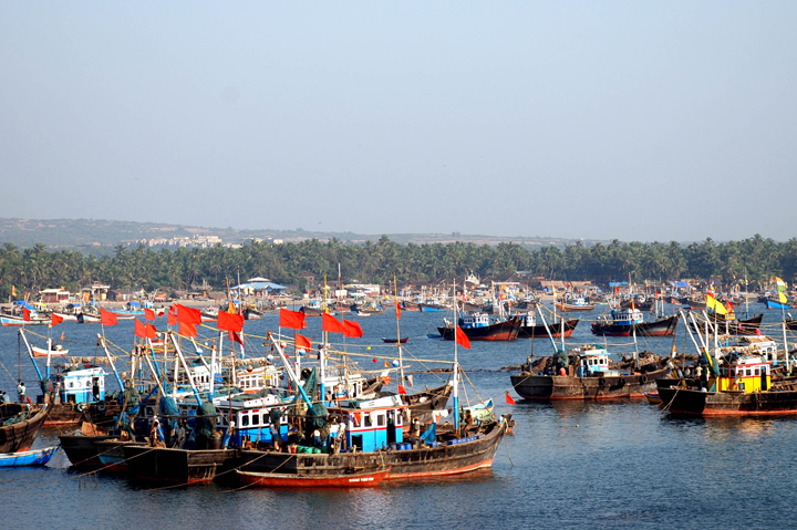 Malvan Jetty on Malvan beach