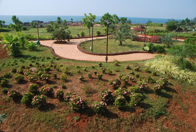 rock garden in Malvan
